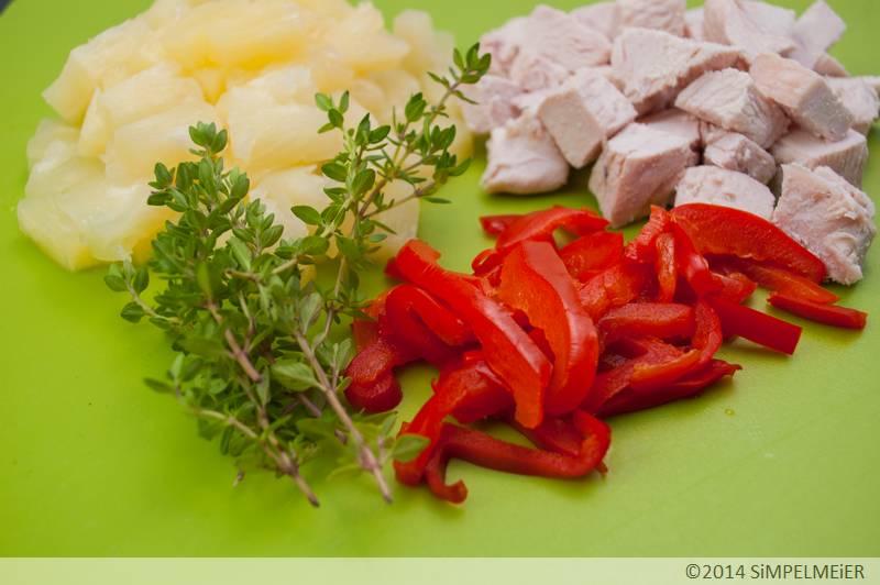 Putensülze mit Ananas und Paprika 2